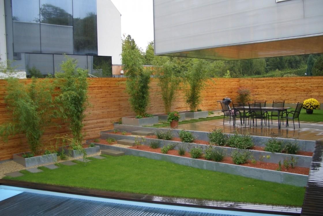 Terrassengarten Landschaftsarchitektur Schmidt Rennhofer